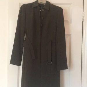 Ann Taylor 2piece Long Belted Jacket & Pants suit